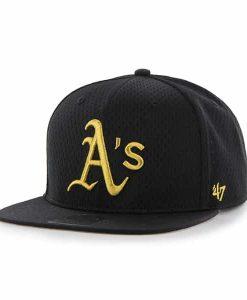 Oakland Athletics Beat Box Captain Black 47 Brand Adjustable Hat
