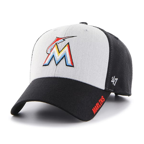 Miami Marlins Beta MVP Black 47 Brand Adjustable Hat
