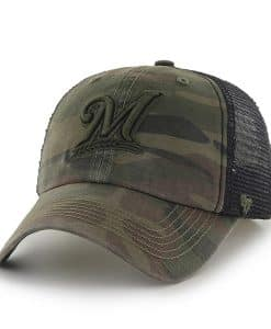 Milwaukee Brewers Beaufort Closer Sandalwood 47 Brand Stretch Fit Hat
