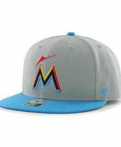 Miami Marlins Big Shot Gray 47 Brand Adjustable Hat
