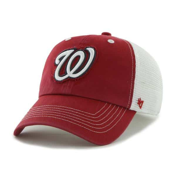 Washington Nationals Blue Mountain Red 47 Brand Stretch Fit Hat