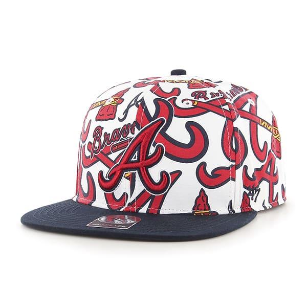 Atlanta Braves Bravado Captain White 47 Brand Adjustable Hat