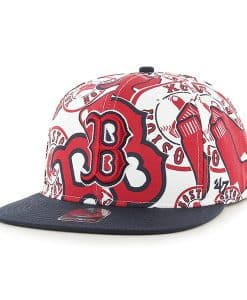 Boston Red Sox Bravado Captain White 47 Brand Adjustable Hat