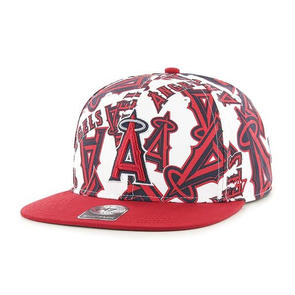 Los Angeles Angels Bravado Captain White 47 Brand Adjustable Hat