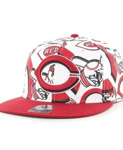 Cincinnati Reds Bravado Captain White 47 Brand Adjustable Hat