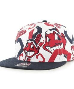 Cleveland Indians Bravado Captain White 47 Brand Adjustable Hat