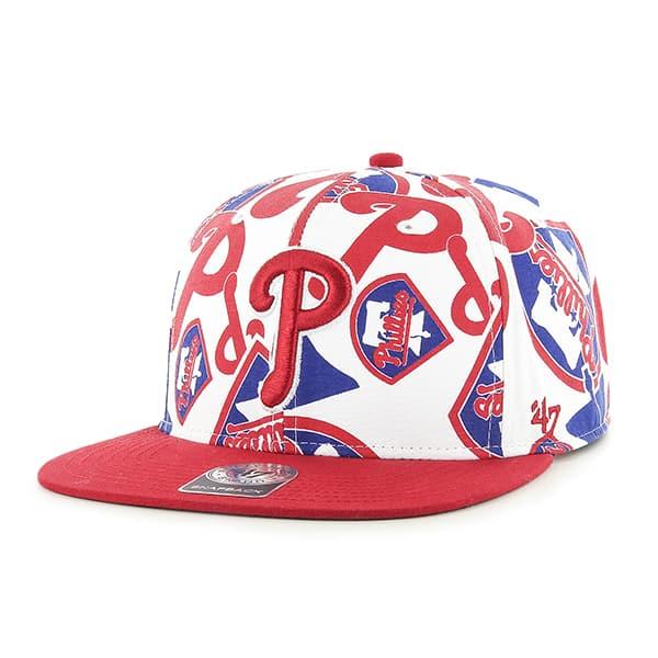 Philadelphia Phillies Bravado Captain White 47 Brand Adjustable Hat