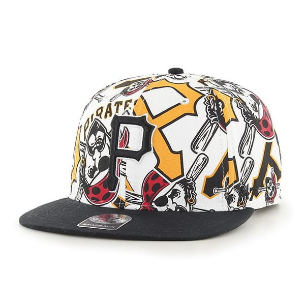 the latest d2eec f14d4 Pittsburgh Pirates Bravado Captain White 47 Brand Adjustable Hat - Detroit  Game Gear