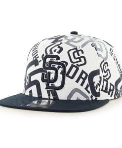 San Diego Padres 47 Brand White Bravado Captain Adjustable Hat
