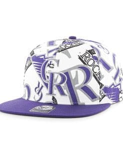 Colorado Rockies Bravado Captain White 47 Brand Adjustable Hat