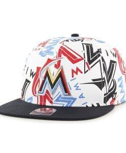 Miami Marlins Bravado Captain White 47 Brand Adjustable Hat