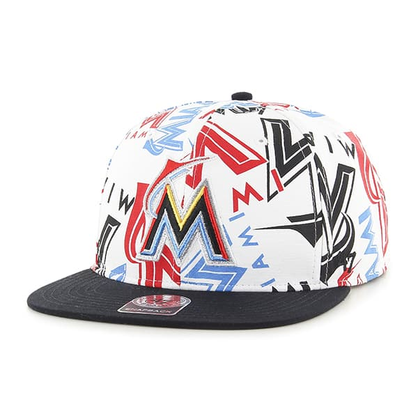 Miami Marlins Bravado Captain White 47 Brand Adjustable Hat