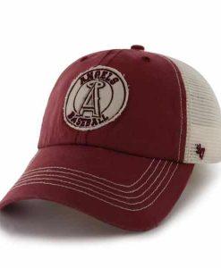 Los Angeles Angels Cuddyhook Red 47 Brand Stretch Fit Hat