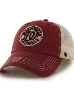 Washington Nationals Cuddyhook Red 47 Brand Stretch Fit Hat
