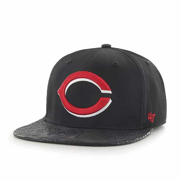 Cincinnati Reds Chuckwalla Captain Black 47 Brand Adjustable Hat