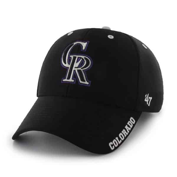 Colorado Rockies Condenser MVP Black 47 Brand Adjustable Hat