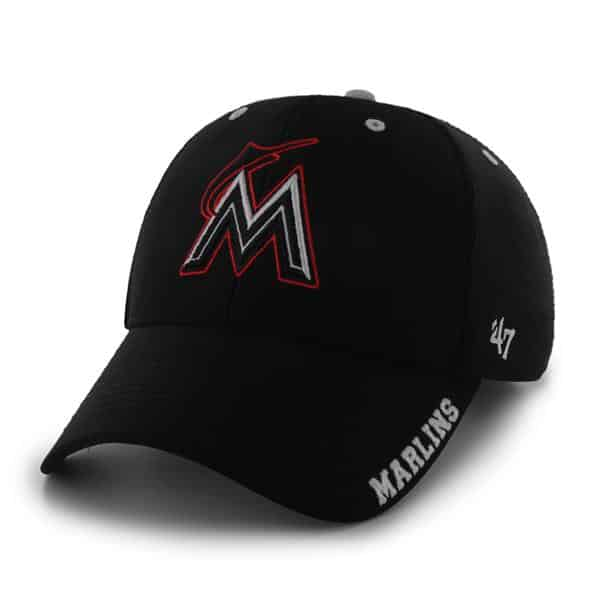 Miami Marlins Condenser MVP Black 47 Brand Adjustable Hat