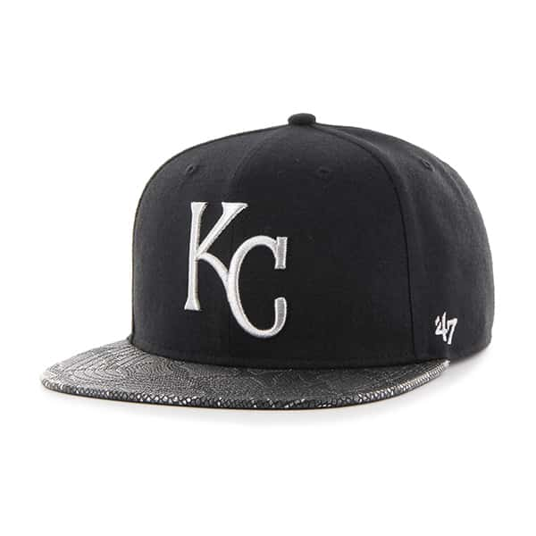 Kansas City Royals Constrictor Metallic Captain Black 47 Brand Adjustable Hat