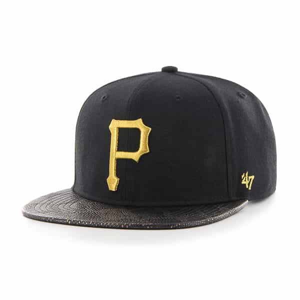 Pittsburgh Pirates Constrictor Metallic Captain Black 47 Brand Adjustable Hat