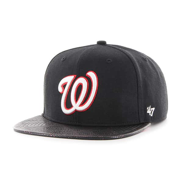 Washington Nationals Constrictor Captain Black 47 Brand Adjustable Hat