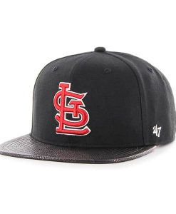 St. Louis Cardinals Constrictor Captain Black 47 Brand Adjustable Hat