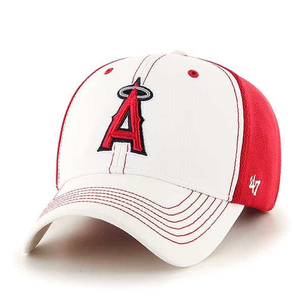 Los Angeles Angels Cooler MVP White 47 Brand Adjustable Hat