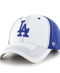 Los Angeles Dodgers Cooler MVP White 47 Brand Adjustable Hat