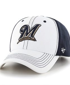 Milwaukee Brewers Cooler MVP White 47 Brand Adjustable Hat