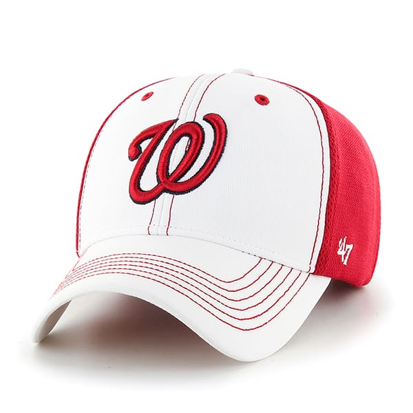 Washington Nationals Cooler MVP White 47 Brand Adjustable Hat