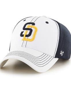 San Diego Padres Cooler MVP White 47 Brand Adjustable Hat