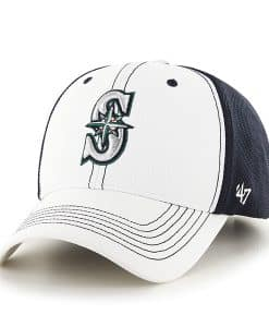 Seattle Mariners Cooler MVP White 47 Brand Adjustable Hat