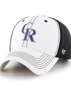 Colorado Rockies Cooler MVP White 47 Brand Adjustable Hat