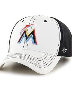 Miami Marlins Cooler MVP White 47 Brand Adjustable Hat