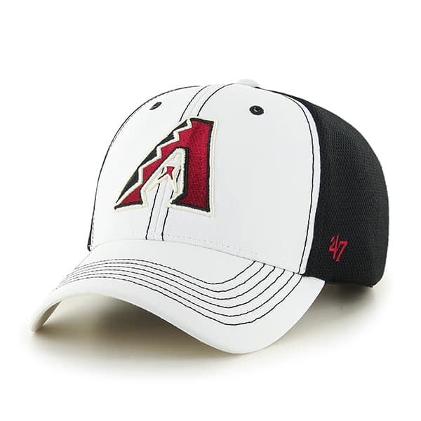 Arizona Diamondbacks Cooler MVP White 47 Brand Adjustable Hat