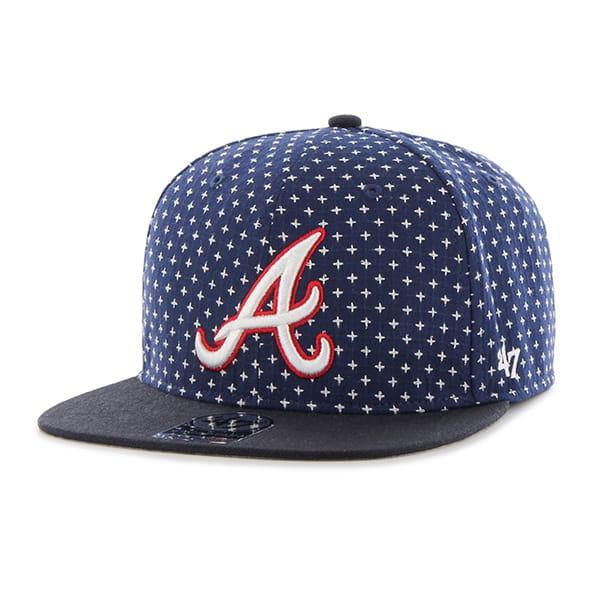 Atlanta Braves Cr 47 Brand Stretch Fit Hatbreed Captain Dyer 47 Brand Adjustable Hat