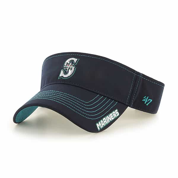 Seattle Mariners Dark Twig Visor Navy 47 Brand Adjustable Hat
