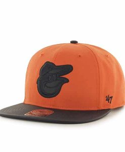 Baltimore Orioles Delancey Captain Orange 47 Brand Adjustable Hat
