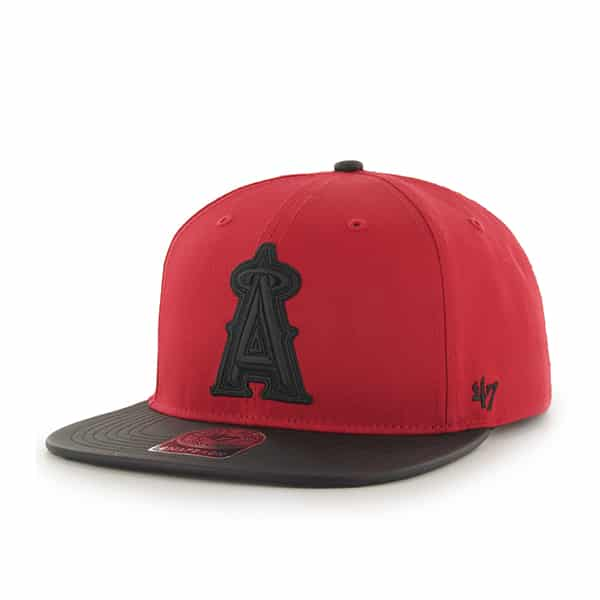 Los Angeles Angels Delancey Captain Red 47 Brand YOUTH Hat