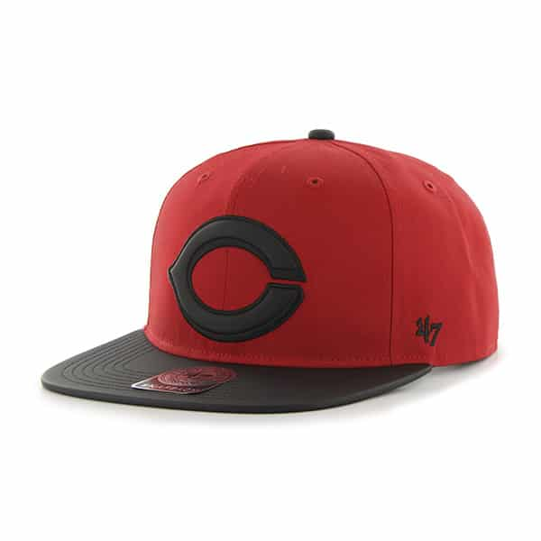Cincinnati Reds Delancey Captain Red 47 Brand YOUTH Hat