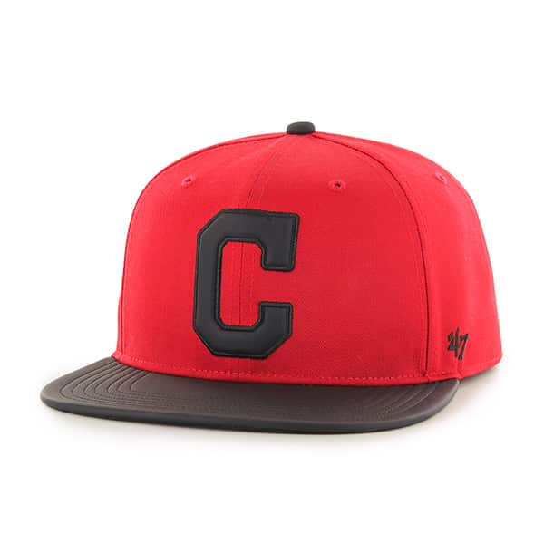 Cleveland Indians Delancey Captain Red 47 Brand YOUTH Hat