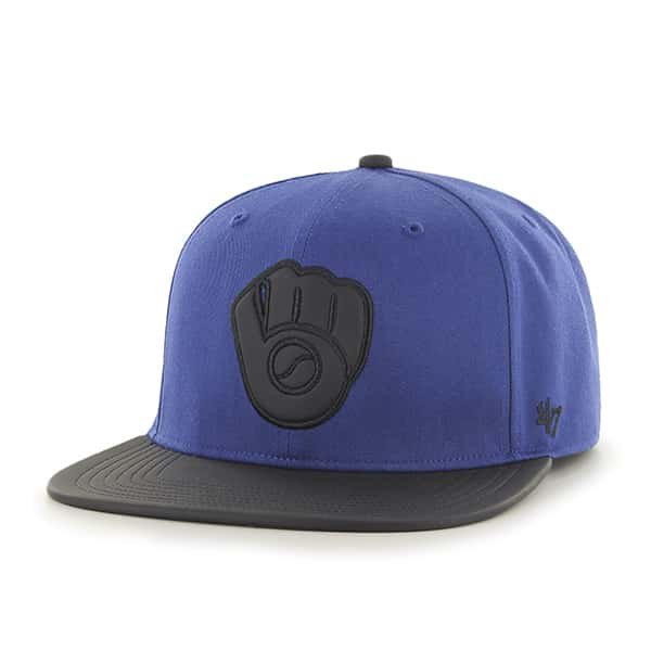 Milwaukee Brewers Delancey Captain Royal 47 Brand YOUTH Hat