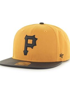 Pittsburgh Pirates Delancey Captain Gold 47 Brand Adjustable Hat