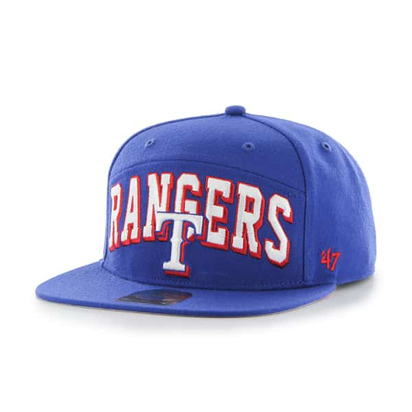 Texas Rangers Devoe Captain Sf Royal 47 Brand Adjustable Hat