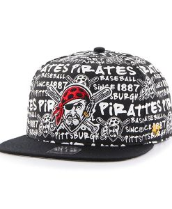Pittsburgh Pirates Fat Cap Captain Dt White 47 Brand Adjustable Hat