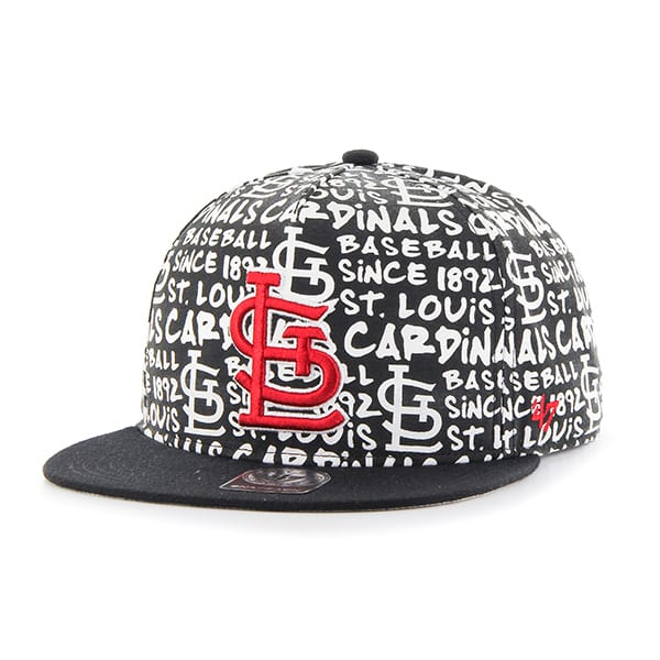 St. Louis Cardinals Fat Cap Captain Dt White 47 Brand Adjustable Hat
