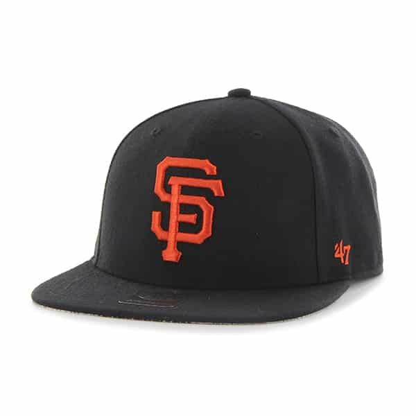 San Francisco Giants Fulton Captain Black 47 Brand Adjustable Hat