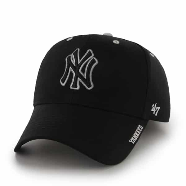 New York Yankees Frost Black 47 Brand Adjustable Hat