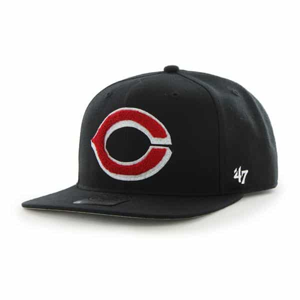 Cincinnati Reds Frat Party After Dark Black 47 Brand Adjustable Hat