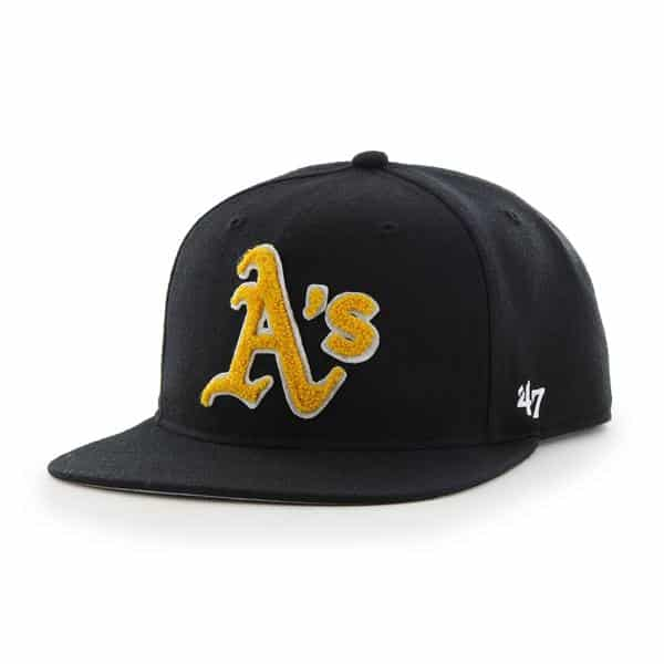 Oakland Athletics Frat Party After Dark Black 47 Brand Adjustable Hat