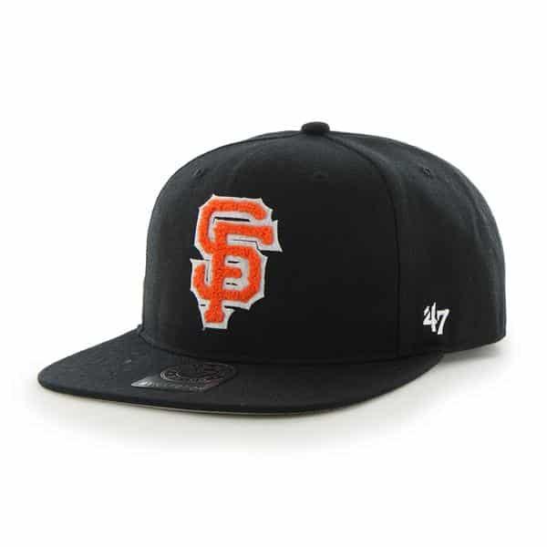 San Francisco Giants Frat Party After Dark Black 47 Brand Adjustable Hat